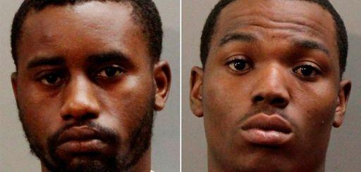 Kadeem Lyle, 22, left, and Jorge Burgess, 23,