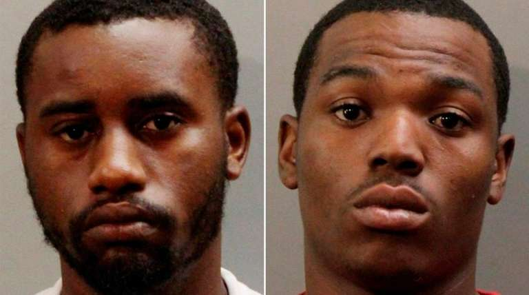 Kadeem Lyle, 22, left, and Jorge Burgess, 23,