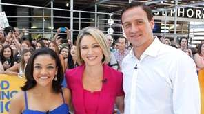 Olympic athletes Laurie Hernandez, left, and Ryan Lochte