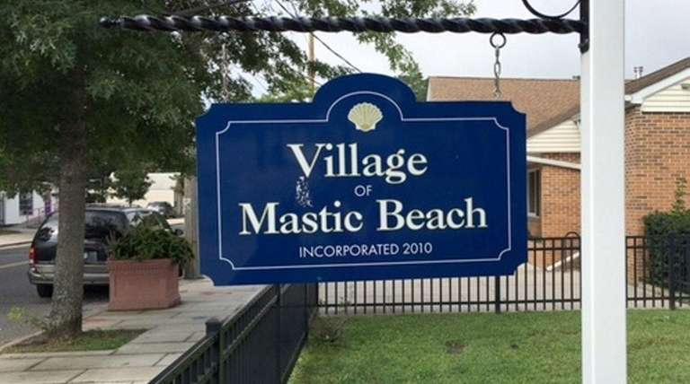 The sign on the front lawn of the
