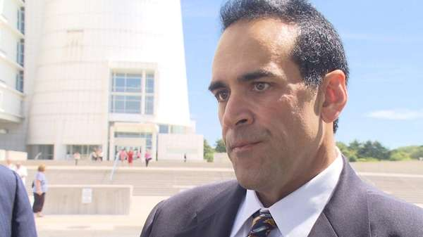 Michael Belfiore arriving at Federal Court in Central