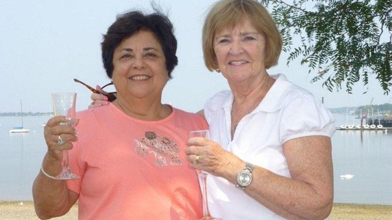 Bertha Heelan, left, and Doris Turner reunited in
