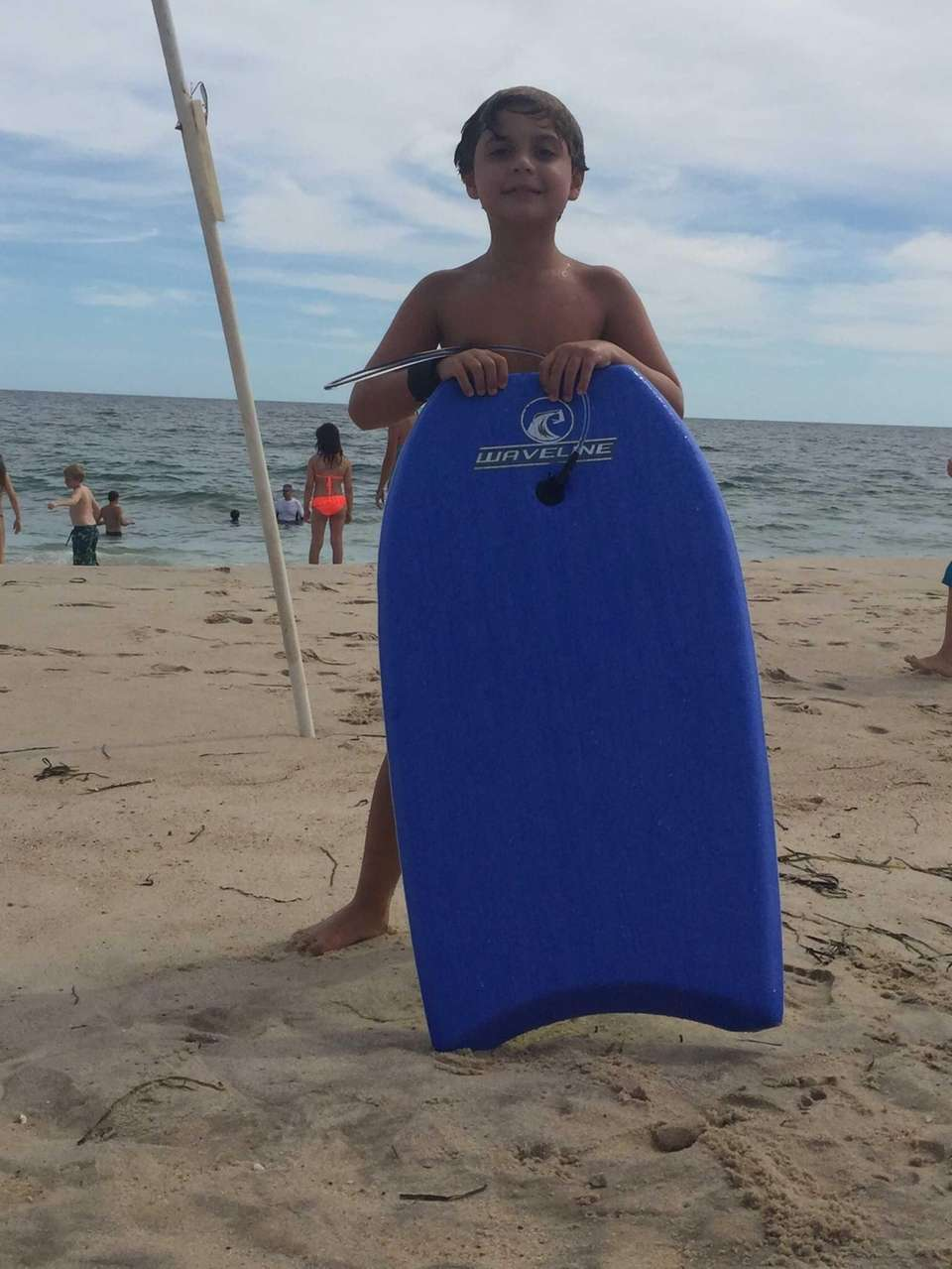 Joseph Ruggiero Boogie boarding at coopers beach Southampton