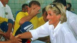 Diana, Princess of Wales, meets with members of