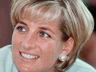 Diana, the Princess of Wales during her visit