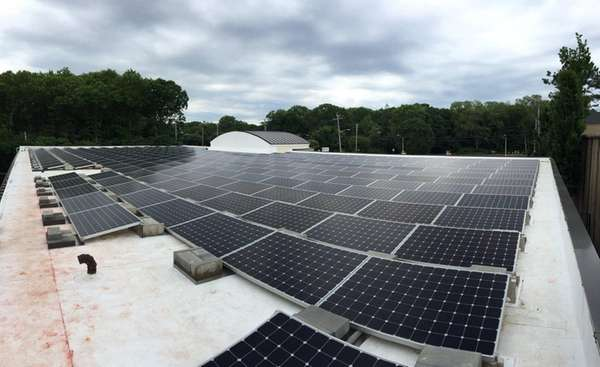 The solar array on the rooftop of Brinkmann