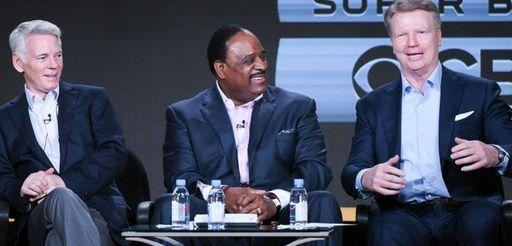 CBS Sports chairman Sean McManus, James Brown