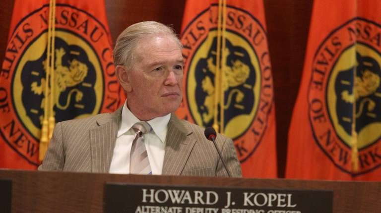 Legis. Howard Kopel (R-Lawrence) at a legislative budget