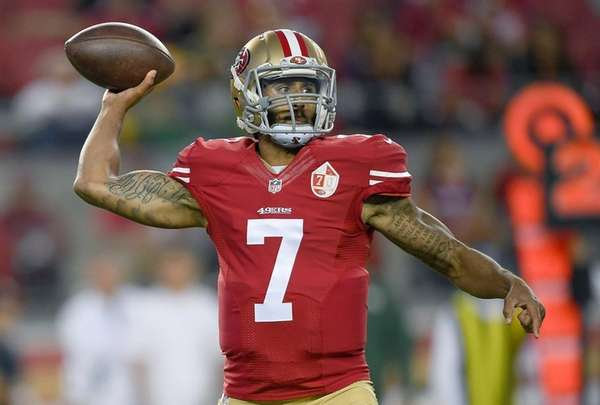 Quarterback Colin Kaepernick of the San Francisco 49ers