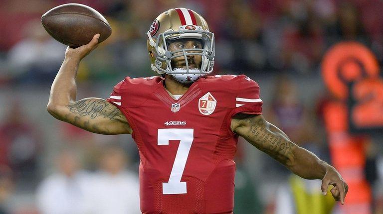 Quarterback Colin Kaepernick of the San Francisco 49ers