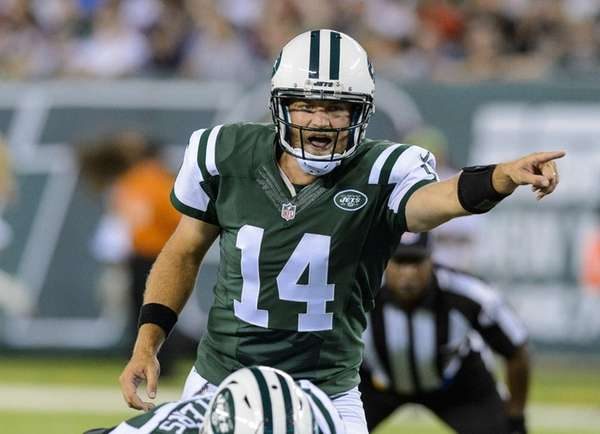 Jets quarterback Ryan Fitzpatrick during the first