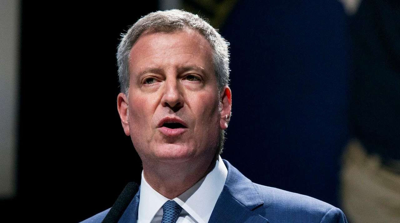 Mayor Bill de Blasio said Tuesday, Aug. 30,