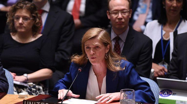 U.S. Ambassador to the UN Samantha Power says