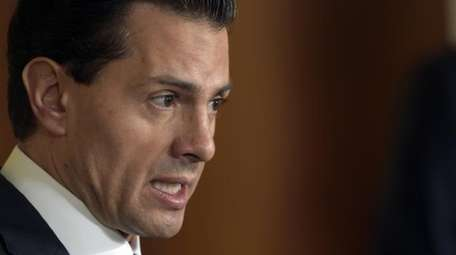 Mexican President Enrique Peña Nieto speaks during a