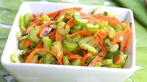 Celery and carrot in a lemon vinaigrette with