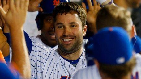 Neil Walker of the New York Mets celebrates