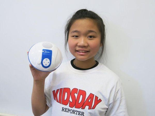 Kidsday reporter Stephanie Lin likes the Bluetooth-capable waterproof
