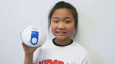 Kidsday reporter Stephanie Lin likes the Bluetooth-capable waterproof