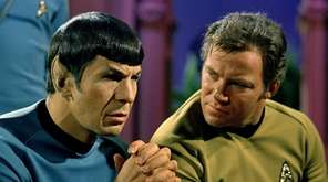 Leonard Nimoy, left, played Spock and William Shatner