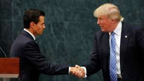 Mexico President Enrique Pena Nieto and Republican presidential