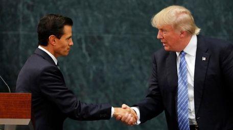 Mexico President Enrique Pena Nieto and Republican presidential