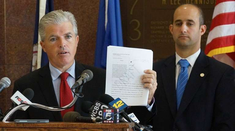 Suffolk County Executive Steve Bellone, at a