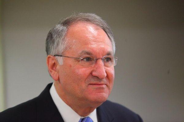 Nassau County Comptroller George Maragos speaks in Massapequa