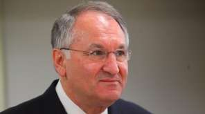 Nassau County Comptroller George Maragos speaks in Massapequa
