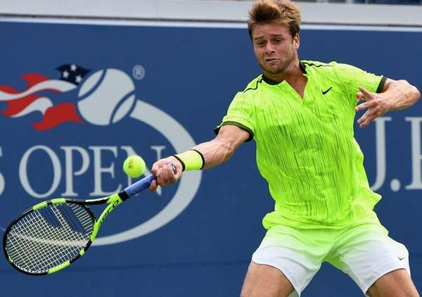 Ryan Harrison of the United States returns to