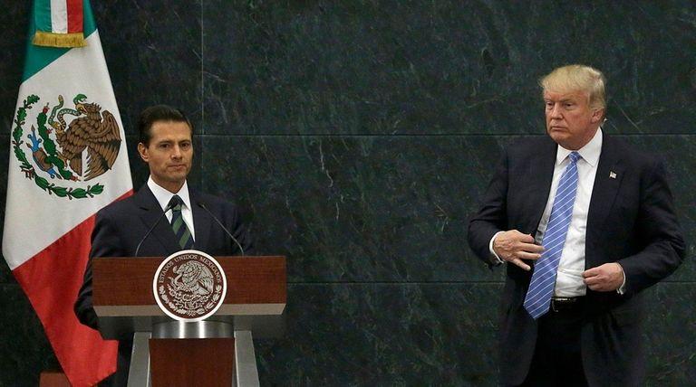 Mexico President Enrique Peña Nieto and Donald Trump