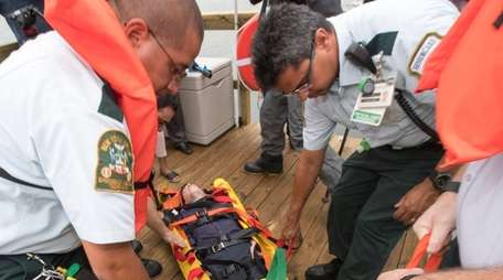 Nassau Communities Hospital demonstrates a rescue from the