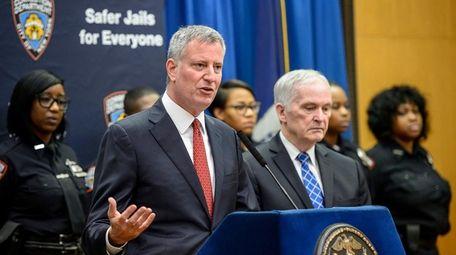 New York City Mayor Bill de Blasio, at