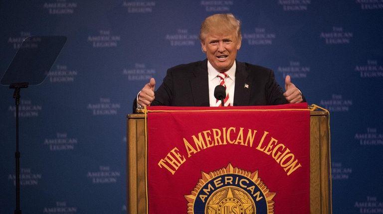 Donald Trump got a warm welcome at an