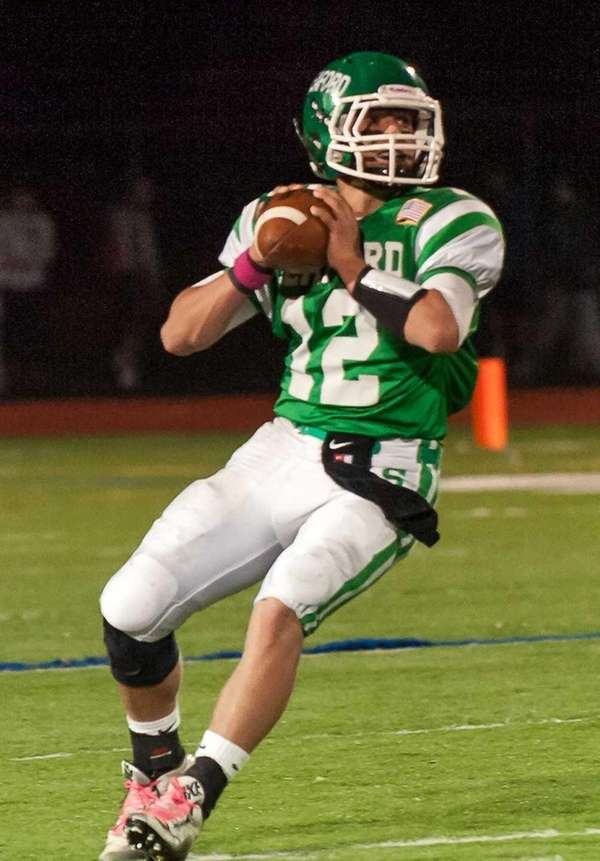 Seaford quarterback Andrew Cain against Locust Valley on