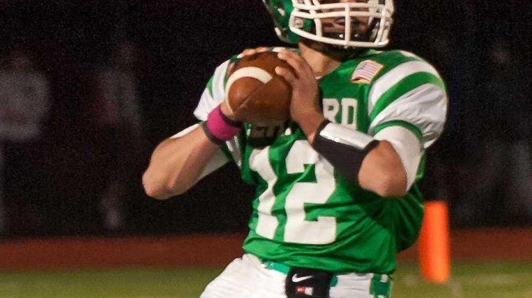 Seaford quarterback Andrew Cain against Locust Valley on