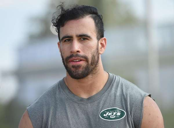 Jets tight end Jace Amaro speaks with reporters