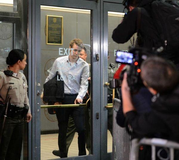 Brock Turner leaves the Santa Clara County Main