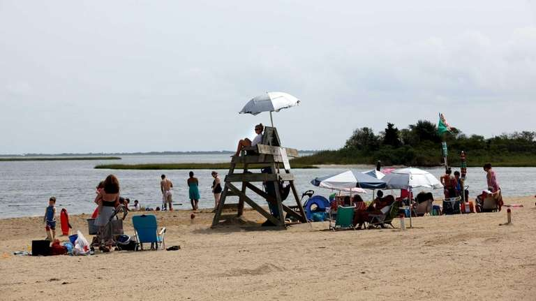 Philip B. Healey Beach in Massapequa is pictured