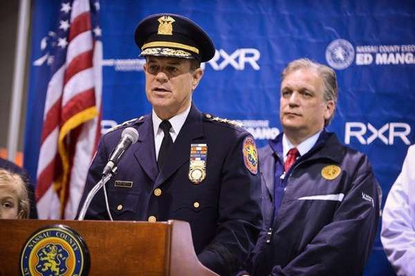 Nassau County Chief of Department Steven Skrynecki speaks