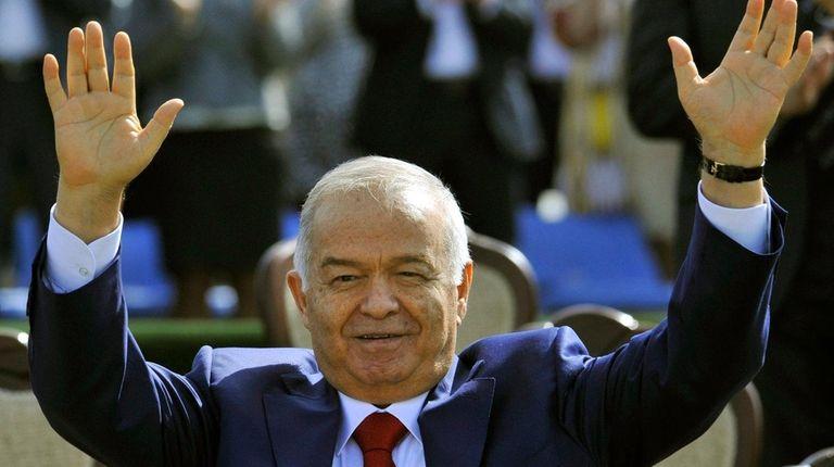 Uzbekistan's President Islam Karimov on March 21, 2015.
