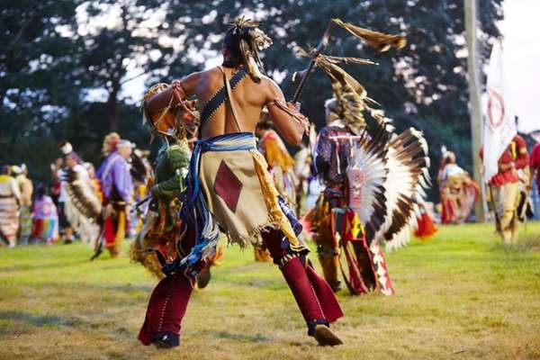 Native American dancers participate Friday, Sept. 2, 2016,