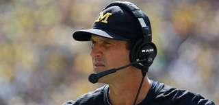 Head coach Jim Harbaugh of the Michigan Wolverines