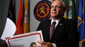 Nassau County Executive Edward Mangano discusses county sewer
