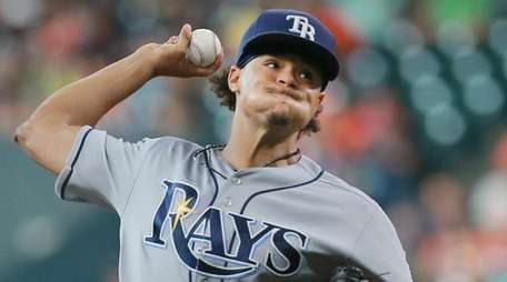 Chris Archer #22 of the Tampa Bay Rays