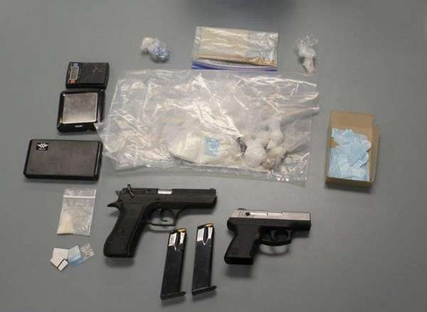 Nassau County police officials say they seized guns