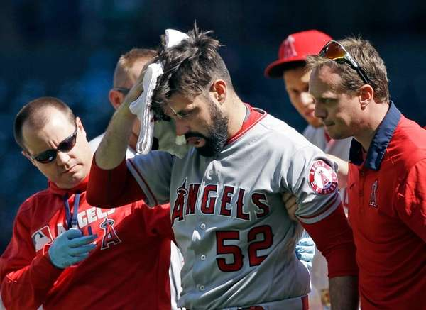 LA Angels Shoemaker suffers skull fracture after being hit in head