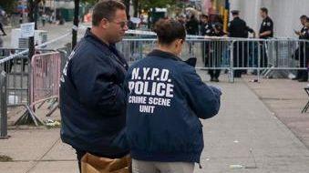 Crime scene investigators with the New York Police
