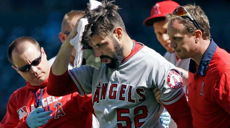 Los Angeles Angels starting pitcher Matt Shoemaker is