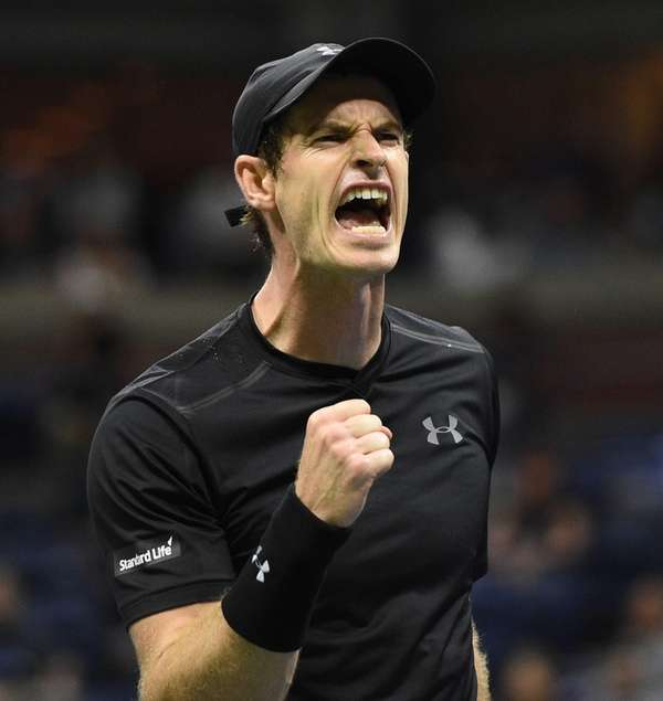 Andy Murray of the United Kingdom reacts after