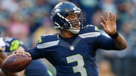 Quarterback Russell Wilson of the Seattle Seahawks